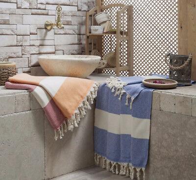 Turkish Cotton Diamond Peshtemal Authentic Beach Towel Pareo Shawl Ebay