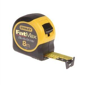 STANLEY-8m-FatMax-Tape-Measure-BladeArmor-METRIC-ONLY-Fat-max