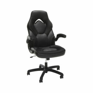 Ofm Essentials Collection Racing Style Bonded Leather Gaming Chair In Black For Sale Online Ebay