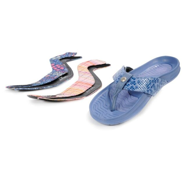 80f61d1c61b Tony Little Cheeks Bandals Exercise Flip Flops Sandals with Fashion Straps  Blue