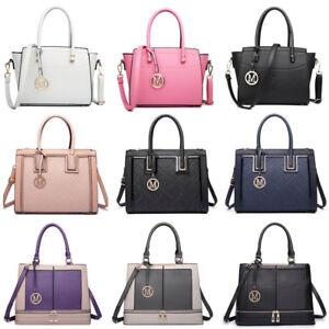 Ladies-Designer-PU-Leather-Style-Bag-Shoulder-Bag-Tote-Handbag