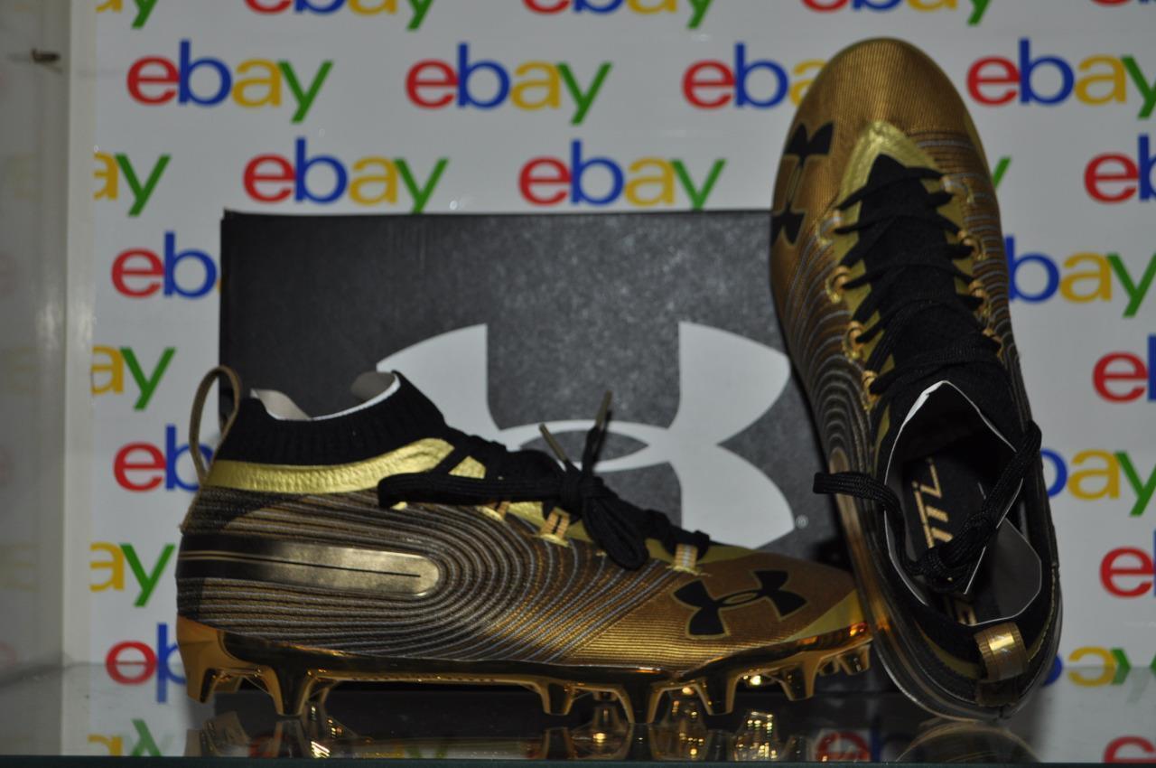 Under Armour UA Mens Spotlight MC Lacrosse Cleats Shoes 3020675-900 Metallic Gold Size 11.5