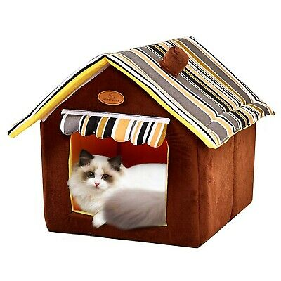 QUMENEY Soft Pet House Indoor, Folding Cozy Dog and Cat Cave Bed for Transpor...  | eBay