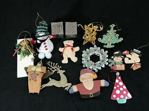 Lot of 14 Misc Christmas Decorations Ornaments