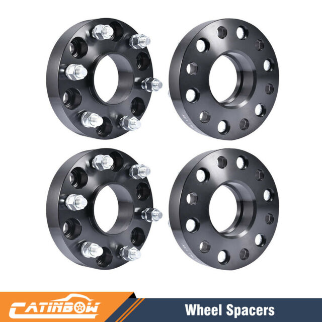 """2 Pc Toyota 6x5.5 6x139.7 HubCentric Wheel Spacers 1.25/"""" Black 6 Lug Truck SUV/'s"""