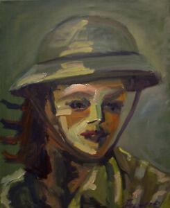 Olbild-Olgemaelde-Portraet-handgemalt-Malerei-Kunst-Modern-russischer-Maler-40x50