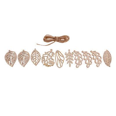 10x Wooden Craft Embellishment Leaf Skull Shapes for Scrapbook DIY Xmas Decor