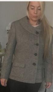 NWT $320.00 Tahari Arthur S. Levine Button Lined Wool Coat Jacket Size 16