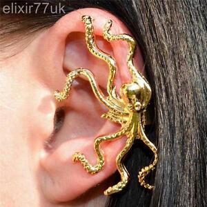 HOT-neue-Gold-Octopus-Ohr-Manschette-Clip-Wrap-Knorpel-keine-Pierce-Emo-Punk-Goth-TOP-UK