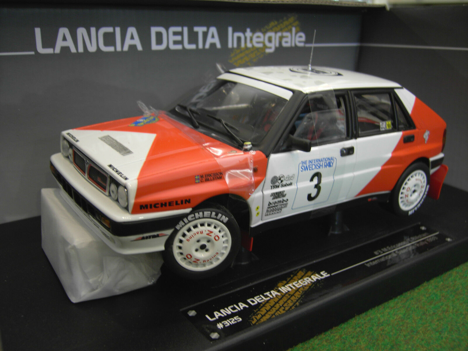 LANCIA DELTA INTEGRALE 1989 RALLYE  3 3 3 international swedish 1 18 SUN STAR 3125 f37776