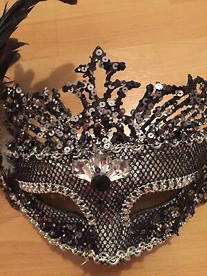 2019 Ultimo Disegno Silver Masquerade Maschera Ballo Gallina Nuovo Anni Vigilia Costume Festa Celebrazione-mostra Il Titolo Originale