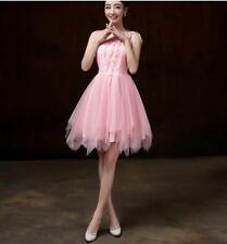 Hot Womens Girls Prom Toast Bra Tutu Dresses Short Skirts Bridesmaid WeddingF223