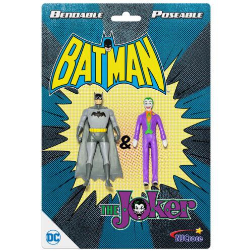 "Action Figures Batman /& The Joker 3/"" Bendable  New dc-3912"