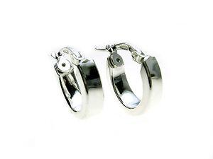 925-Sterling-Silver-plain-oval-Hoop-earrings