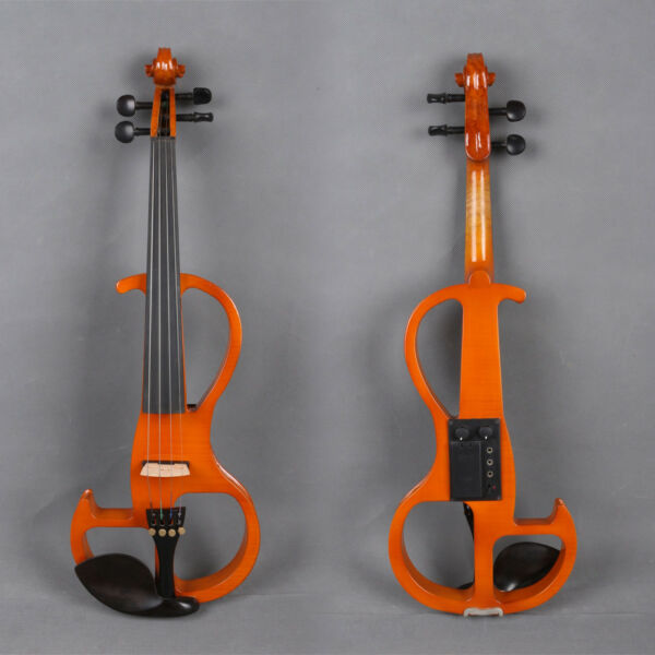 Orchestral 15 Inch Electric Viola Sweet Sound Solid Wood Viola Case Bow Blue Color Violas