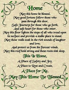 House-Blessing-Poster-Page-Pagan-New-Age-Goth-Spirit-Soul-Goth-Magic-Prayer-Home