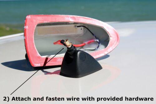 2010-2013 Kia Soul Functional AM//FM BLACK Shark Fin Antenna FITS