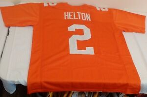 sports shoes 99b26 38ced Details about Orange Home Football Jersey Tennessee Volunteers TODD HELTON  #2 XL Custom 1994