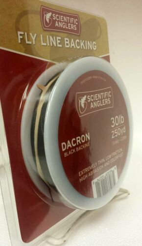 FREE US SHIPPING SCIENTIFIC ANGLERS 30 LB BLACK 250 YD DACRON BACKING