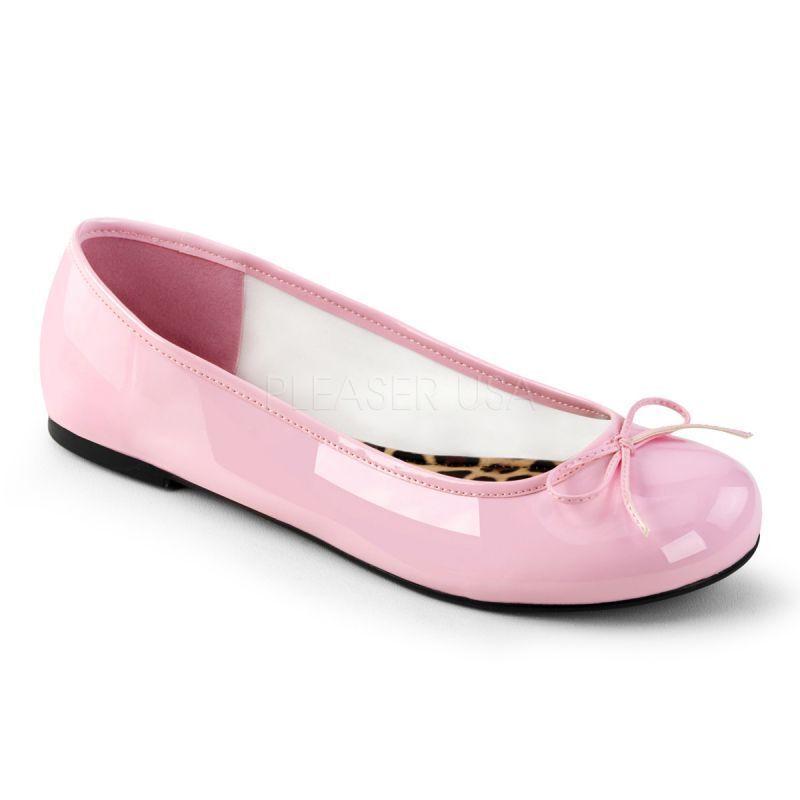 Ballerinas Pleaser Pink Label Label Pink ANNA-01 pink ff4dc4