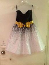 Jessica McClintock Gunne Sax Size 3 Black Yellow  Prom Cocktail Dress