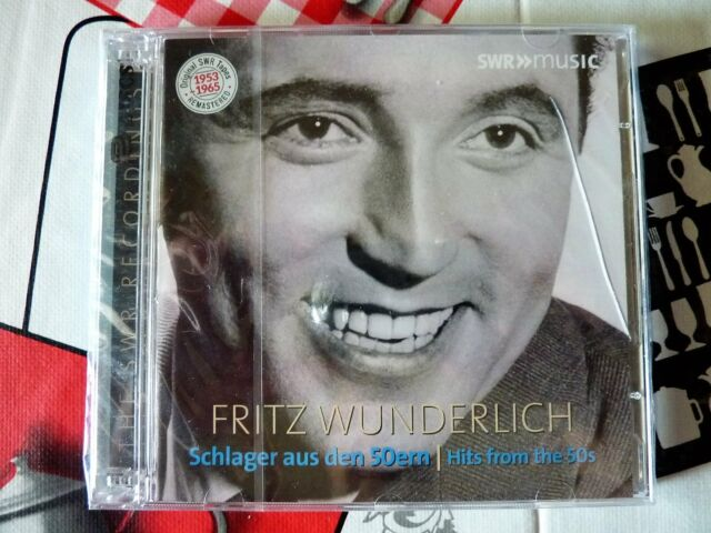 2CD Fritz Wunderlich - Hits from the 50s SWR Music (NUOVO & SIGILLATO)