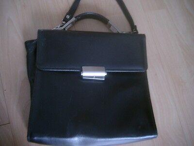 braune Damen Lederhandtasche 27 cm x 25 cm x 7 cm