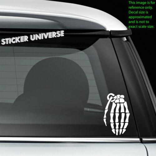 Skeleton Hand Grenade Car Window Decal Bumper Sticker JDM Military Biker 0256