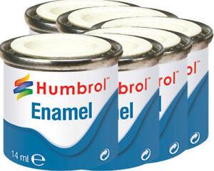 HUMBROL-Enamel-tinlet-Paint-Gloss-metallic-matt-metal-model-hornby-airfix-14ml
