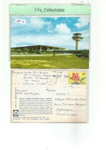 AP11-MALAYA-MALAYSIA-USED-COLOR-PICTURE-POST-CARD-034-KL-INTERNATIONAL-AIRPORT-034