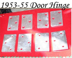 Corvette-1953-1954-1955-Door-Hinge-Mounting-Spacer-Shim-Set-Threaded-Holes
