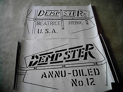 Both Sides! Dempster #12 Windmill Tail Vane Logo Layout for Stencil or Tracing