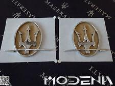 2x Maserati Emblem Tridente Satz Original Set 3200 4200 Coupe QP C-Säule Levante