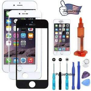 Replacement-Outer-Screen-Glass-Lens-for-iPhone-SE-5S-6S-Plus-7-4S-Glue-amp-Tool-Kit