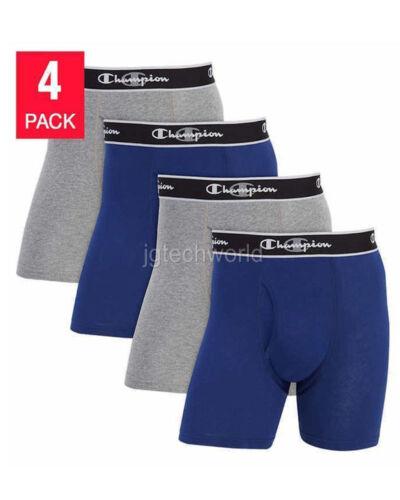 New Champion Mens Briefs 4-Pack Elite X-Temp Boxer Blue and Gray M L XL