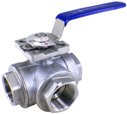 3-Way Stainless Steel Ball Valves