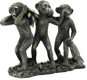 3-Wise-Monkeys-Modern-Home-Sculpture-See-Speak-Hear-No-Evil-Resin-Ornament