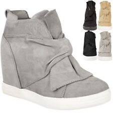 aeb1317b15821b item 5 Womens Ladies Mid High Heel Wedges Trainers Hi Tops Bow Sneakers  Knot Shoes Size -Womens Ladies Mid High Heel Wedges Trainers Hi Tops Bow  Sneakers ...