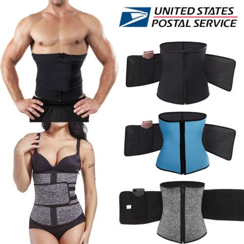 Hot Sweat Weight Loss Workout Waist Trainer Corset Trimmer Zip Belt Body Shaper