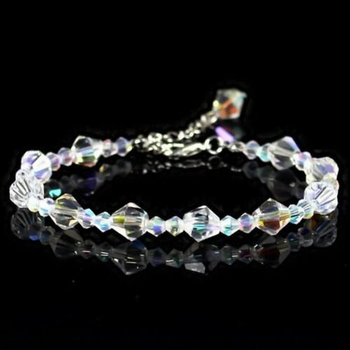 Fashion Crystal Transparent Geometric Beads Bracelets Bangle Charm Wedding Party