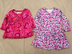 Hanna-Andersson-110-Lot-Dress-Tunic-Girls-Pink-Patterns-Floral