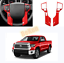 ABS FOR Toyota Tacoma 2016-2020 RED Interior Steering wheel cover trim 2PCS