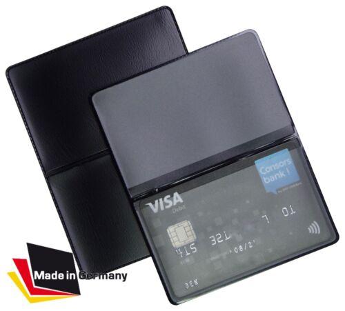 EC Kartenhülle NEU Mappe Schwarz Ausweisetui Kreditkarten Tasche Schutzhülle 1A