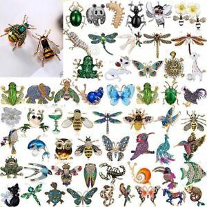 Commercio-all-039-ingrosso-di-cristallo-Animale-Perla-Spilla-Farfalla-Ape-Bird-Donna-Gioielli-HOT