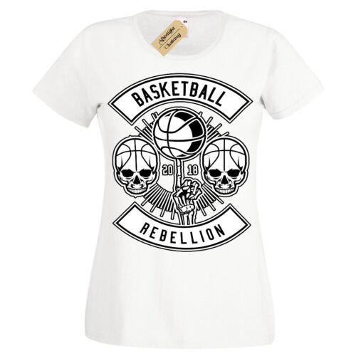 Basketball rébellion T-shirt Basket-ball T-Shirt Femme Ladies