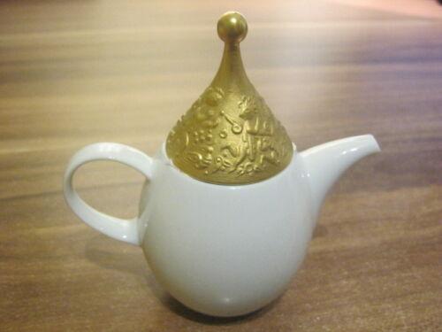 Mini Kaffeekanne 8 cm  Zauberflöte weiß gold  von  Rosenthal