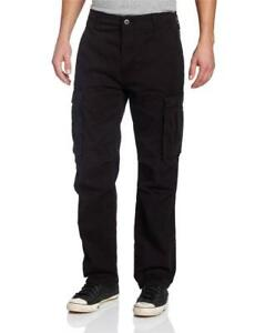 Levi-039-s-Strauss-Men-039-s-Original-Relaxed-Fit-Cargo-I-Pants-Black-124620011