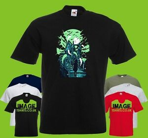 a42bd0887e Haunted House Girl Mens PRINTED T-SHIRT Halloween Ghosts Scary Moon ...