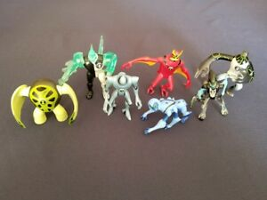 Ben-10-Battle-Version-Figures-Lot-Jetray-Diamondhead-XLR8-Upgrade-Spider-Monkey
