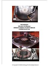 TECHNICS SL1200 & SL1210 Turntable New User Manual